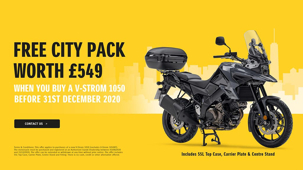 Free City Pack with a V-STROM 1050