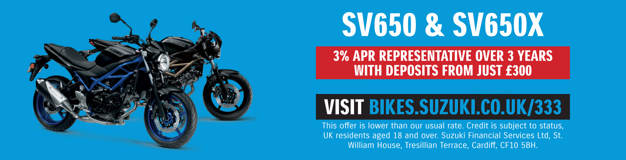 Suzuki SV650 & SV650X 2021 Offer